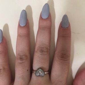 Hearts Pandora Ring 100% Authentic